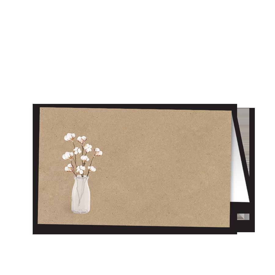 Rustic Kraft Paper Wedding Place Seating Escort Card