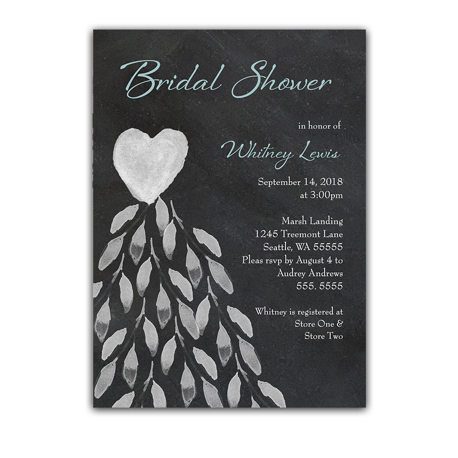 Wedding shower invitation archives page 3 of 3 noted occasions chalkboard bridal shower invitation wedding dress filmwisefo