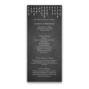 Chalkboard and Lights Wedding Ceremony Program