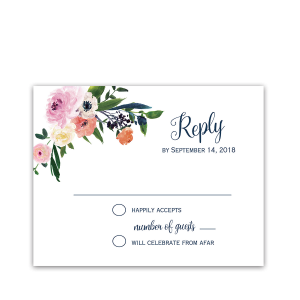 Watercolor Floral Wedding RSVP Response Cards