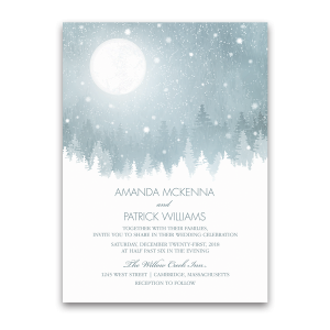 Rustic Snowflake Winter Wonderland Wedding Invitation