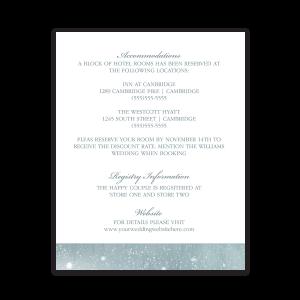Rustic Snowflake Winter Wedding Guest Information Card