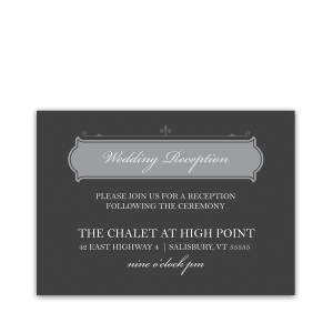 Vintage Industrial Chic Wedding Reception Insert Card