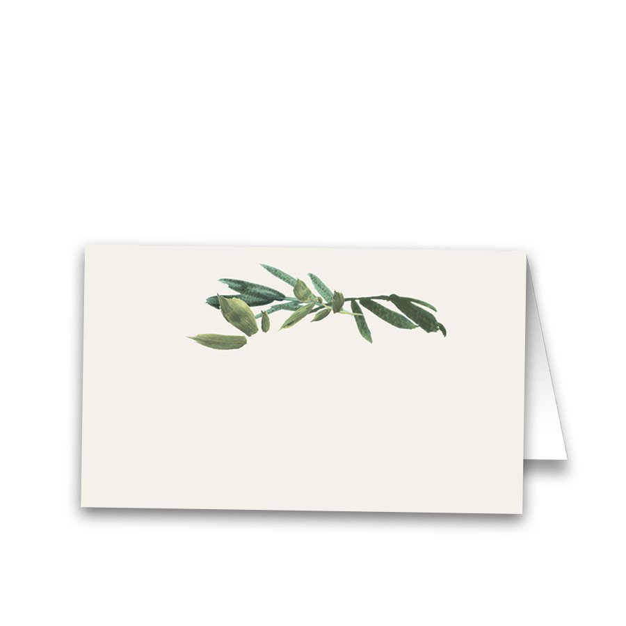 Rustic Greenery Tented or Flat Wedding Seating Cards