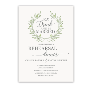 Eat Drink Be Married Wedding Rehearsal Dinner Invite