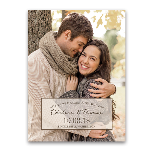 Modern Wedding Photo Save the Date Cards