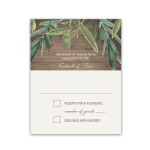 Rustic Wedding RSVP Greenery Response Cards