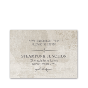 Steampunk Wedding Industrial Chic Reception Insert