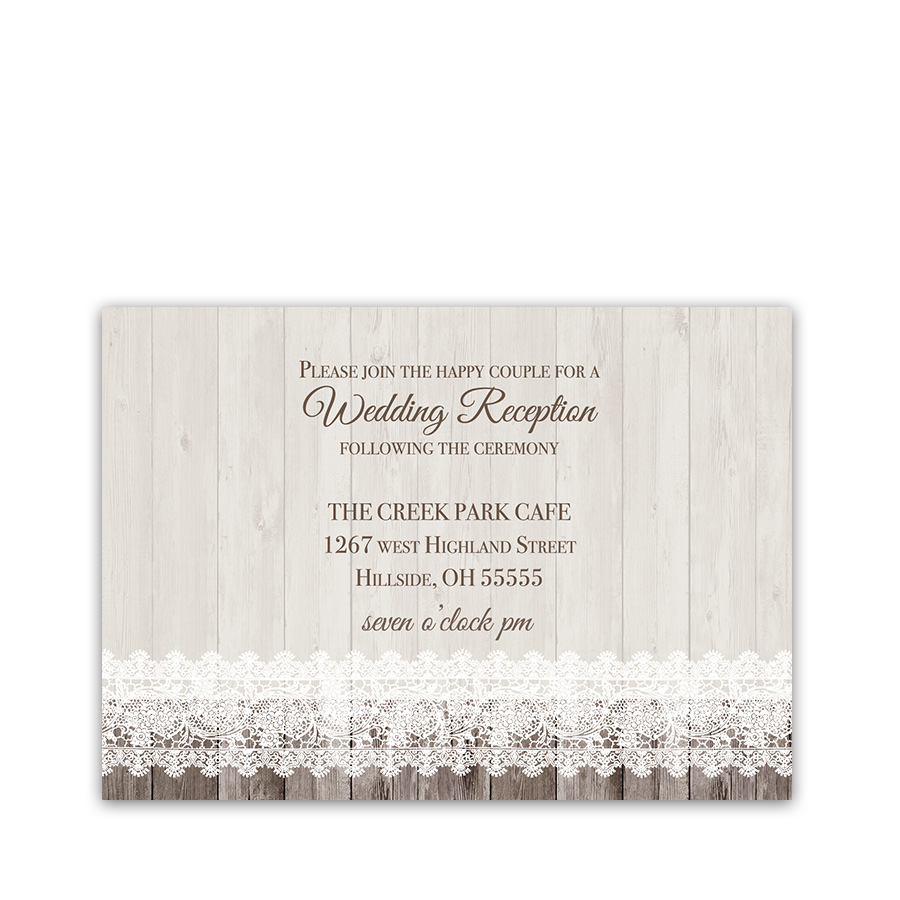 Sunflower Wedding Reception Details Card Barn Wood Lace