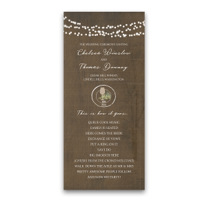 Vintage Winery Wedding Order of Service Program