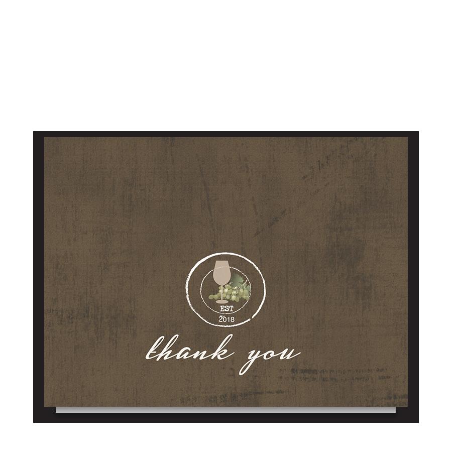 Rustic Vineyard Vintage Wedding Thank You Notes
