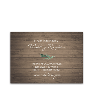 Rustic Barn Wood Wedding Reception Details Card