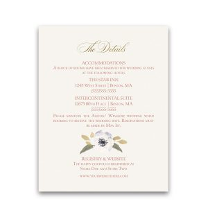blush gold wedding guest information cards