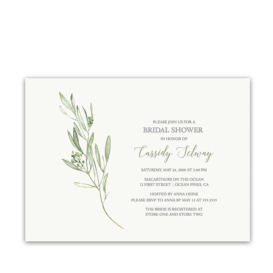 Greenery bridal shower invitation Modern Wedding Shower Invite