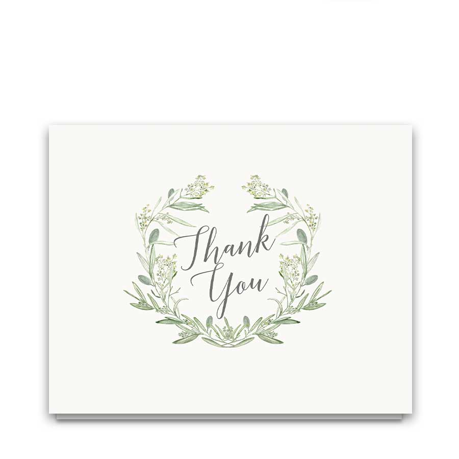Greenery Wedding Thank You Cards