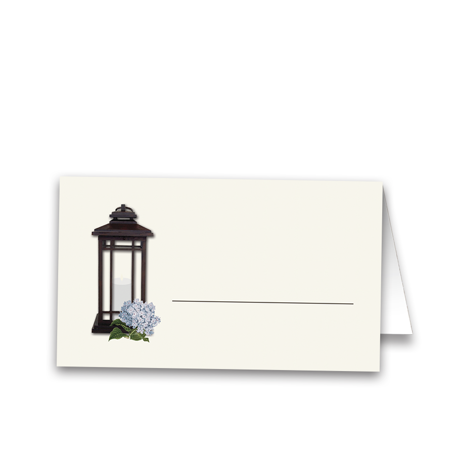 Rustic Metal Lantern Wedding Table Seating Cards