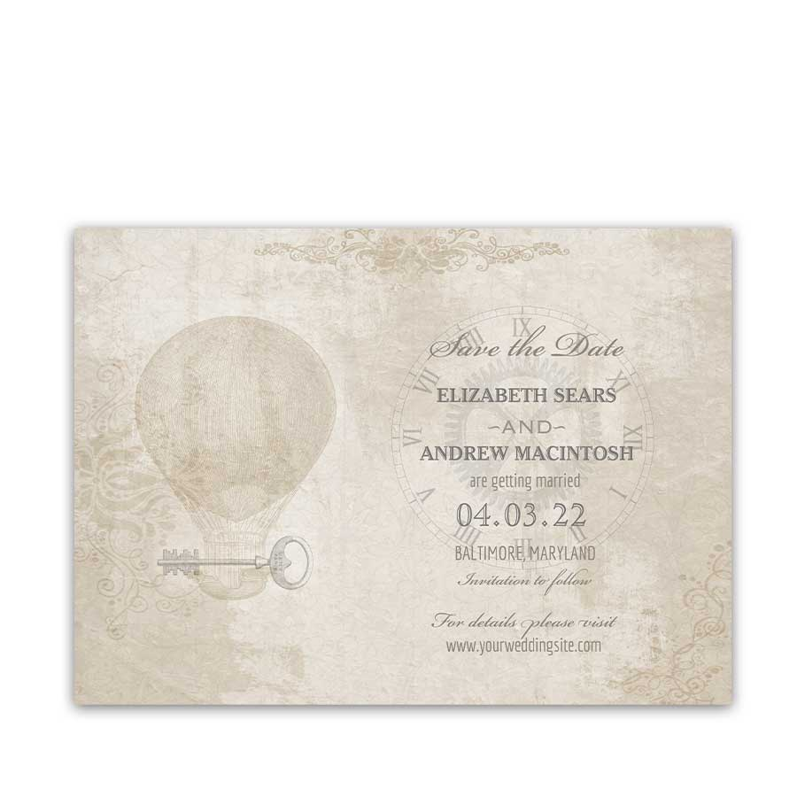 Steampunk Wedding Save the Date Cards