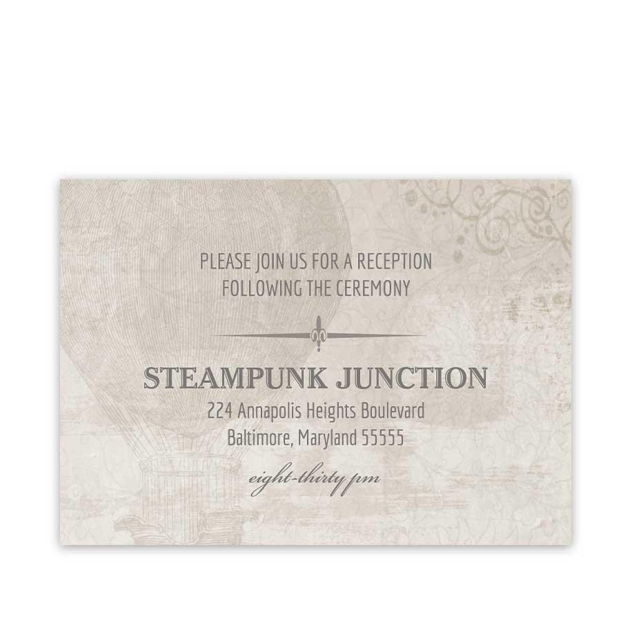Steampunk Wedding Reception Insert