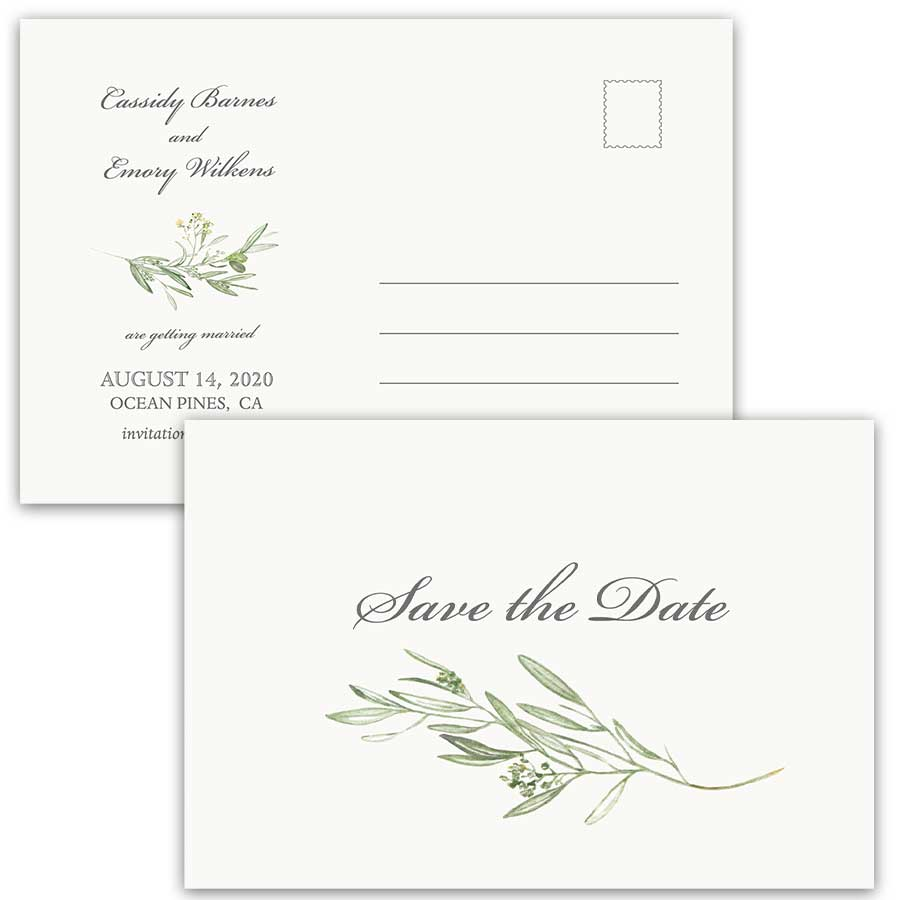 Winery Wedding Save the Date Postcard