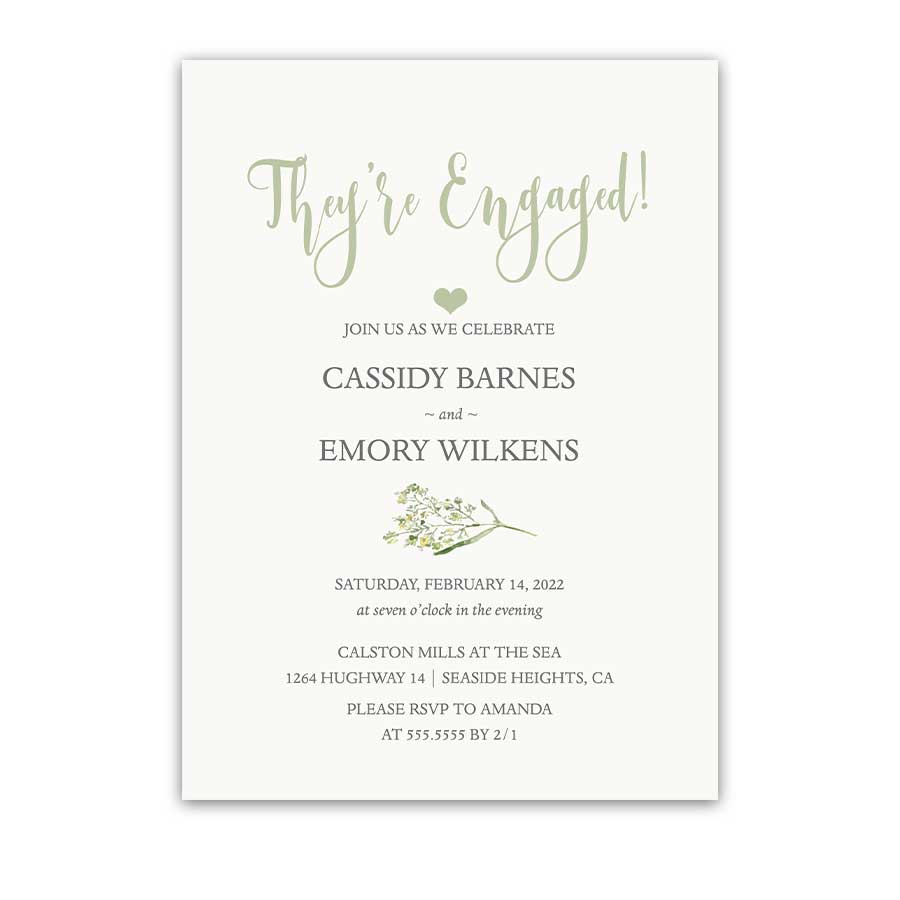 Modern Engagement Party Invitations