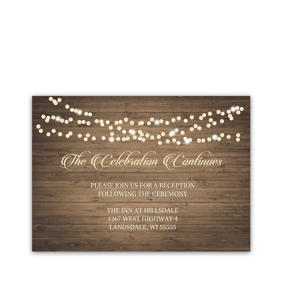 Rustic Fall Wedding Coordinating Reception Cards