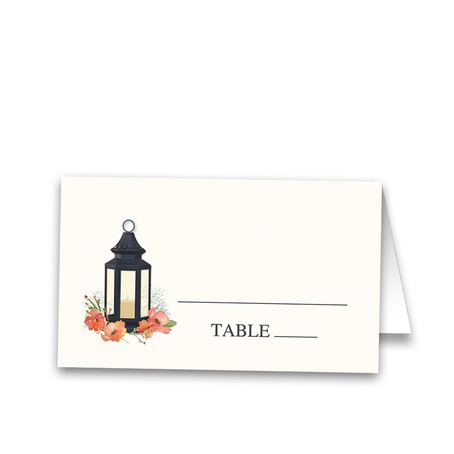 Metal Lantern Wedding Table Guest Seating Cards