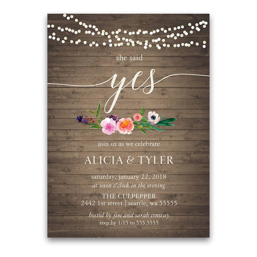 floral engagement party invitation Archives - Noted Occasions ...