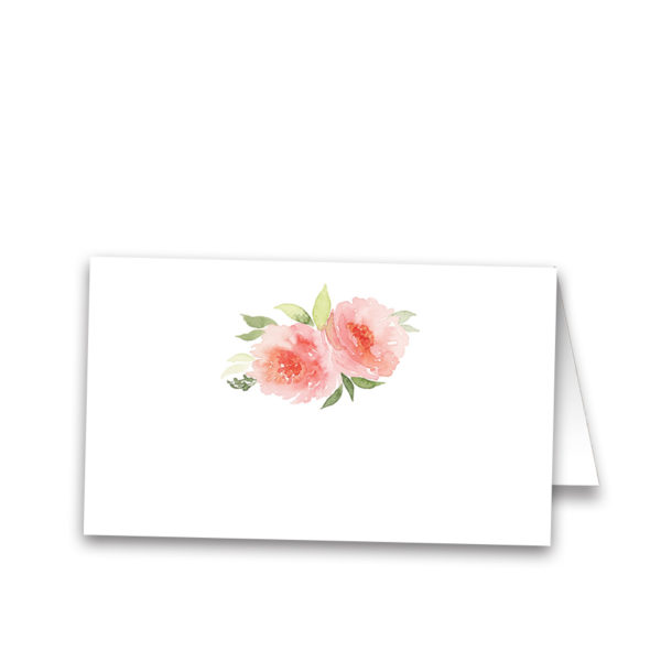 Watercolor Floral Wedding Escort Table Seating Cards