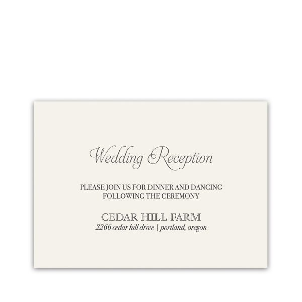Custom Wreath Wedding Set Reception Information Card