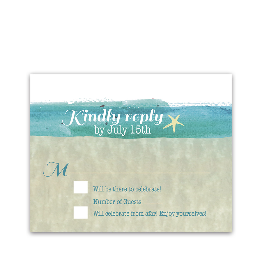 Casual Beach Wedding RSVP Response Cards