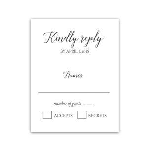 Modern Script Calligraphy Wedding Response Cards