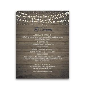 Winery Vineyard Wedding Information Enclosure Cards