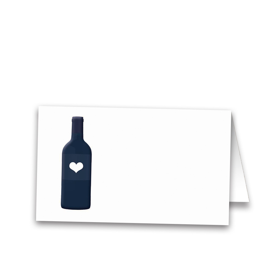 Wine Bottle Vineyard Wedding Escort Seating Cards
