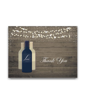 Vineyard Wine Bottle Wedding Thank You Cards