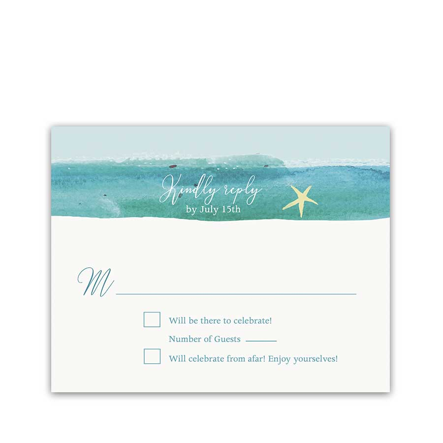 Casual Beach Wedding RSVP Response Cards