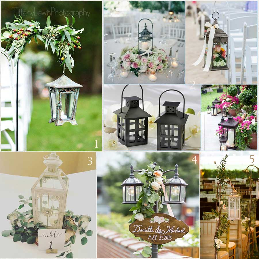 Summer Wedding Decoration Ideas: 2017 Wedding Invitations Trends Metal Lanterns As Decor
