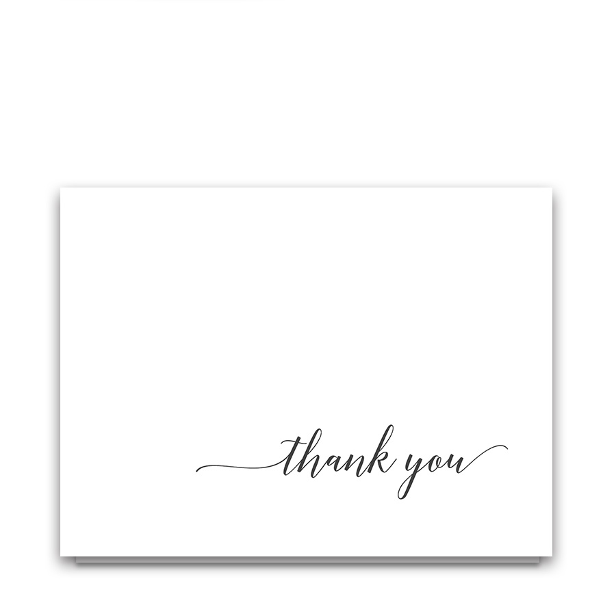 Modern Script Handwritten Wedding Thank You Cards