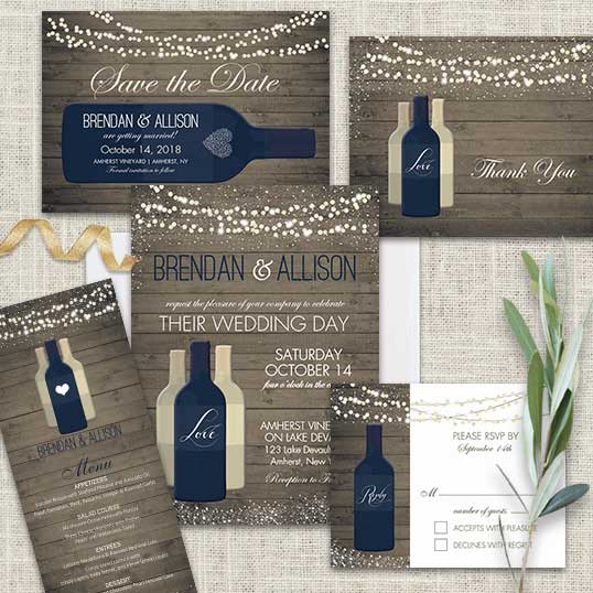 Winery Wedding Invitation Vineyard Wedding Inspiration Set