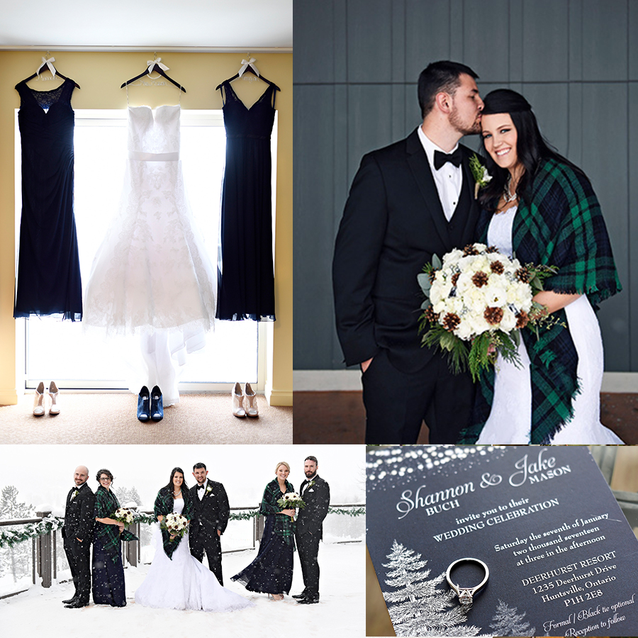 A Dreamy Navy Blue Winter Wedding At Deerhurst Resort