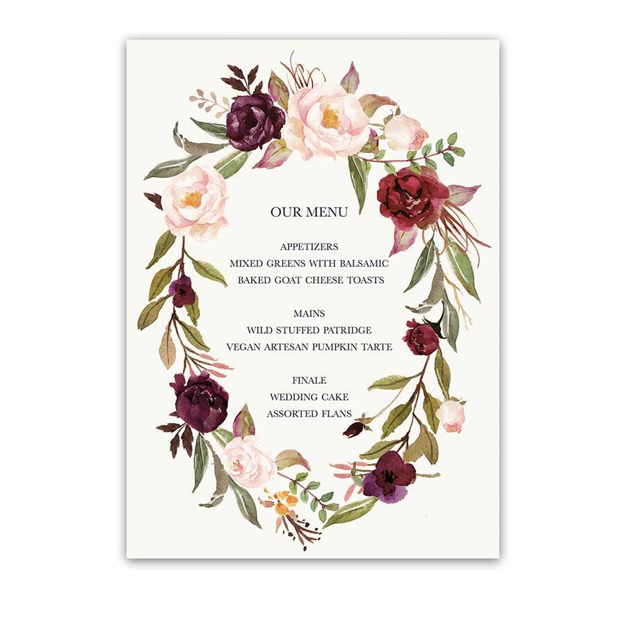 floral wreath wedding menu blush burgundy wine hydrangea clip art images hydrangea clip art border free