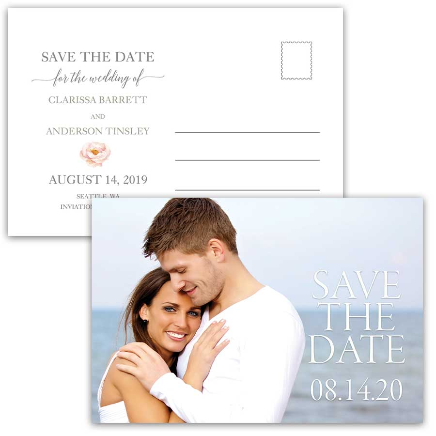 Save the Date Postcards With Photo
