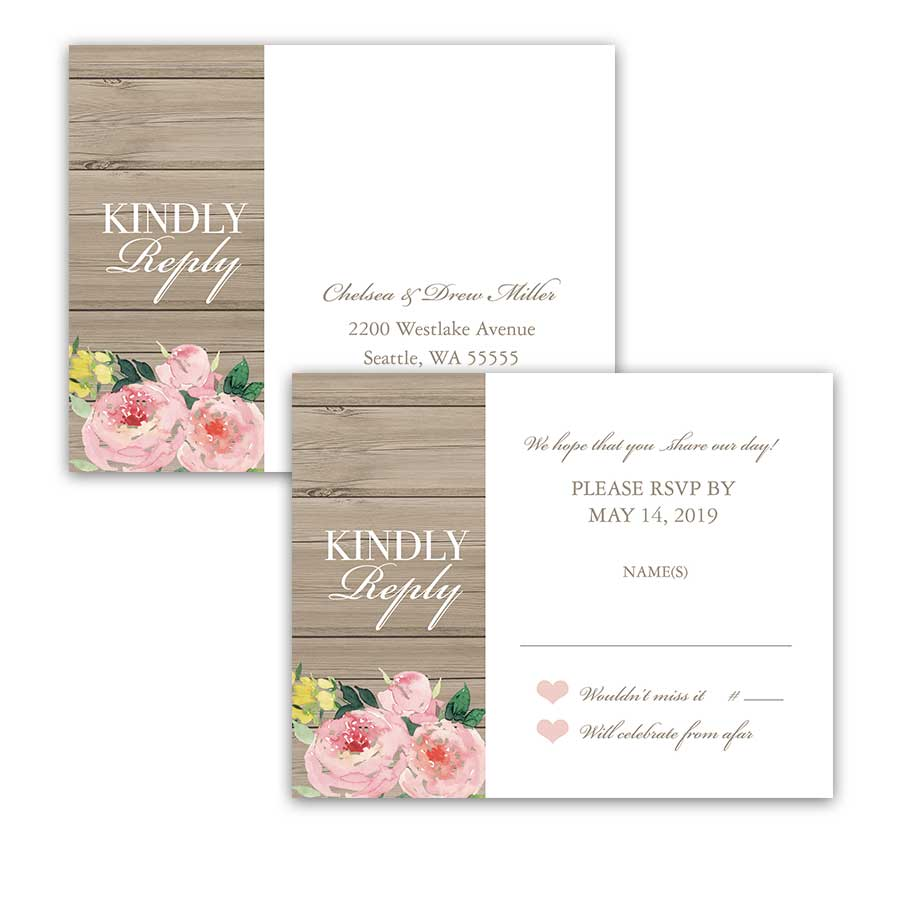 I DO BBQ Wedding Reception Only RSVP Postcards