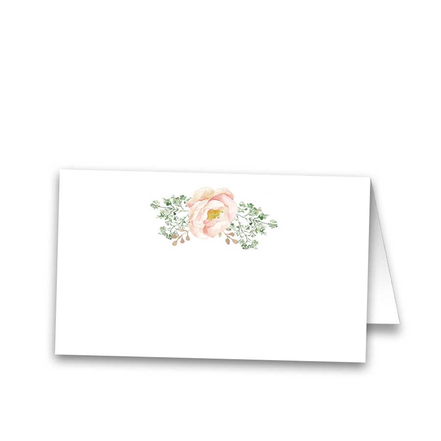 Place Cards Blush Floral Elegant Wedding Escort Cards