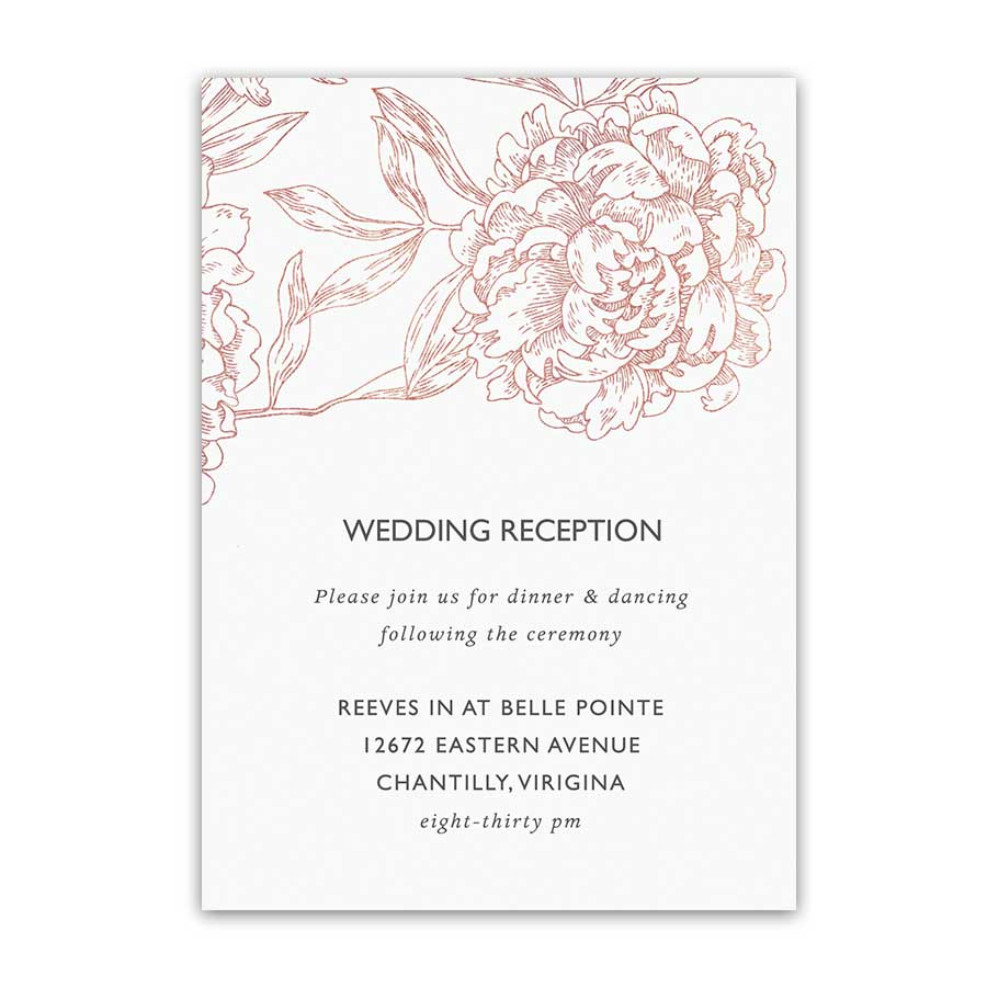 Vintage Garden Floral Wedding Reception Details Cards