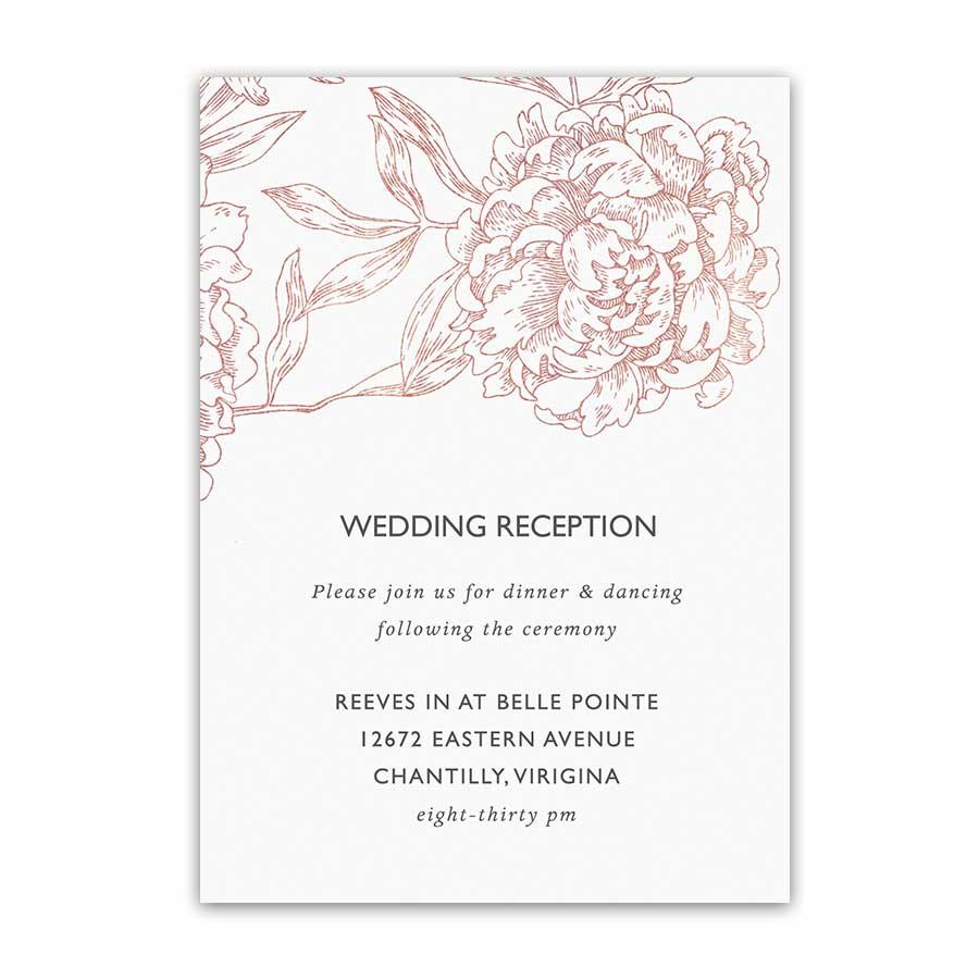 Vintage Garden Floral Wedding Reception Details Cards