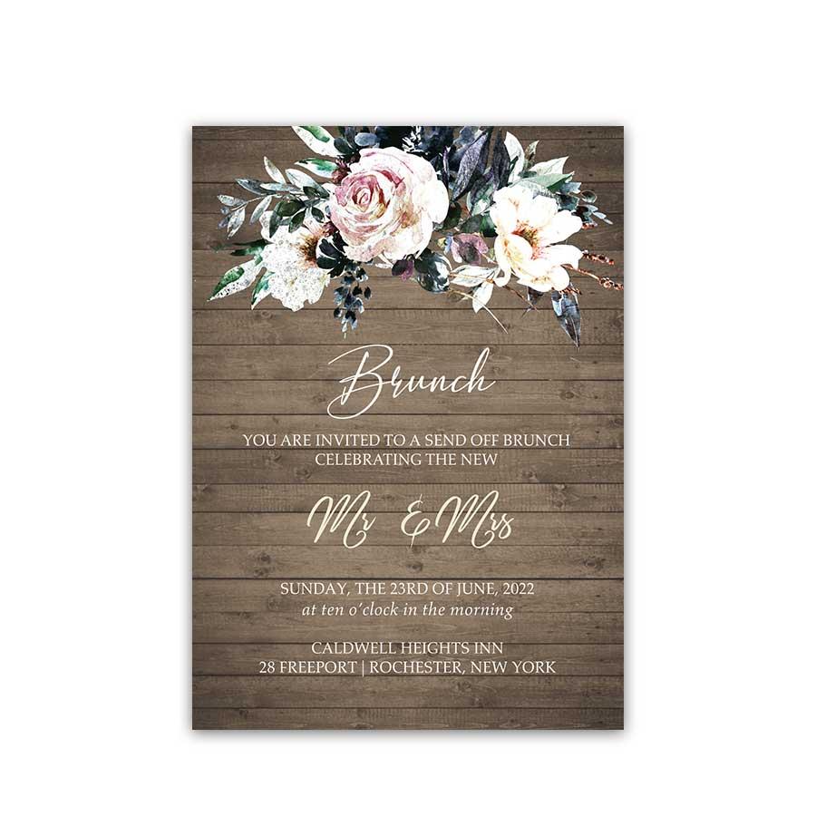 Wedding Brunch Invitations Inserts