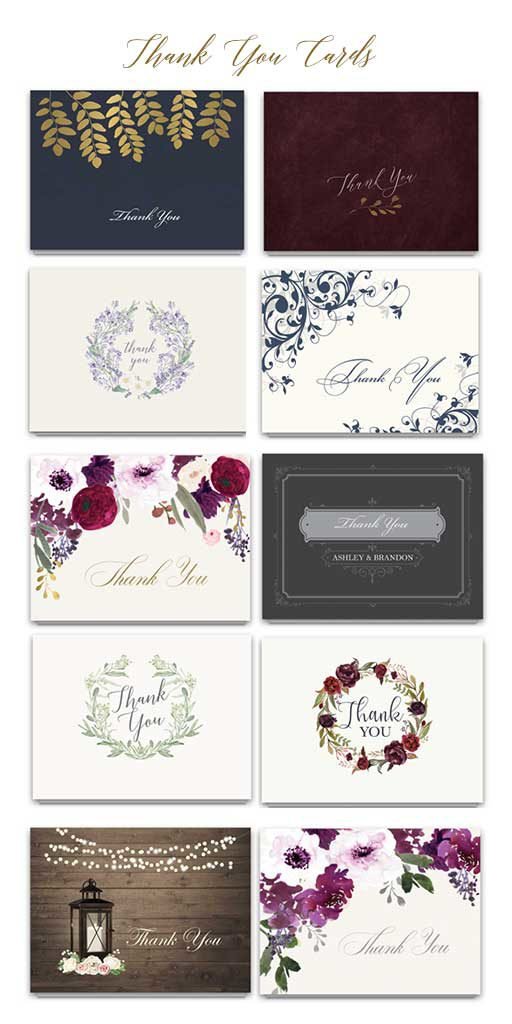 Wedding thank you cards wording and etiquette notedocccasions shop thank you cards here junglespirit Image collections