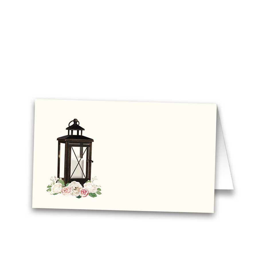 Wedding Escort Seating Cards Lantern with Blush Florals
