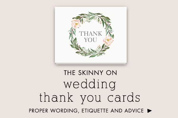 wedding thank you cards wording and etiquette - Wedding Thank You Cards