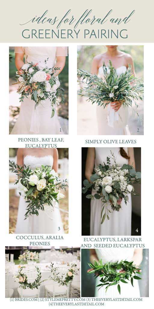 Wedding Greenery Inspiration Ideas Pairing florals with greenery